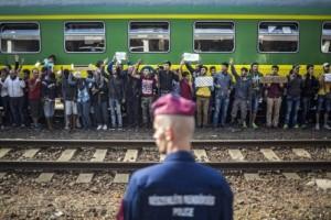 Tren de la esperanza en Hungría